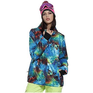 6fdc48ebf4 Amazon.com  HOTIAN Womens Ski Snowboard Jacket Waterproof Snow Jackets  Winter Coats  Clothing