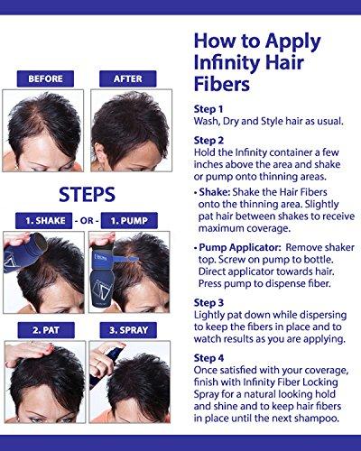 infinity hair. amazon.com: infinity hair fiber spray pump for easier application of loss concealing fibers: amazon launchpad