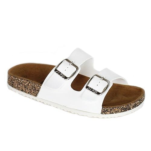 1ac22692fb9 ANNA Women s Casual Buckle Straps Sandals Flip Flop Platform Footbed (6