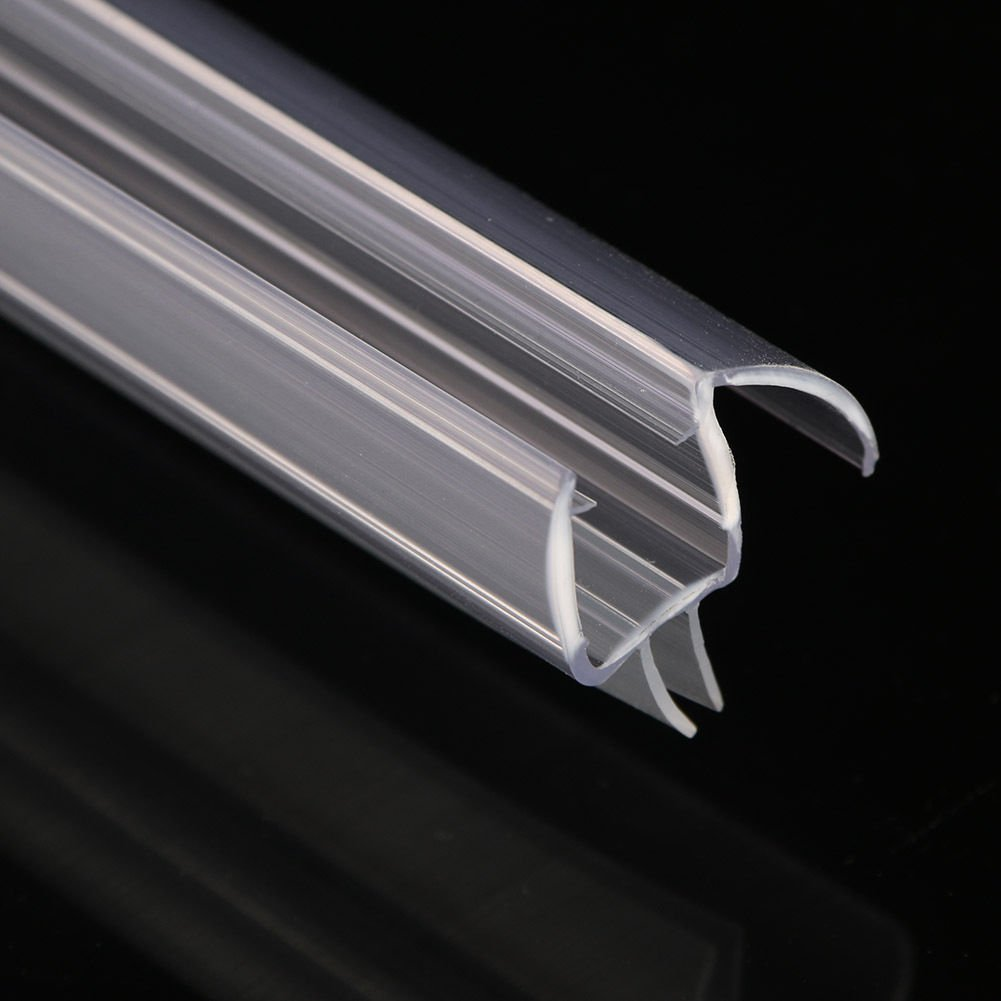 clear rail sweeps long dp sweep door seal com seals glass and amazon shower with for drip