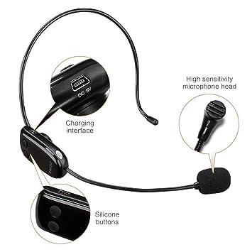 Zoweetek® UHF Micrófono inalámbrico, transmisión inalámbrica Estable 35m, Auriculares y de Mano 2