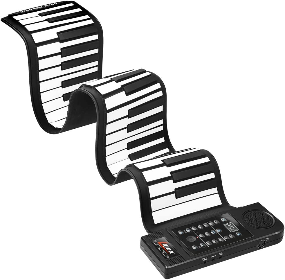 Lujex Upgrade Portable 61 Keys Roll Up Flexible Electronic Piano Keyboard
