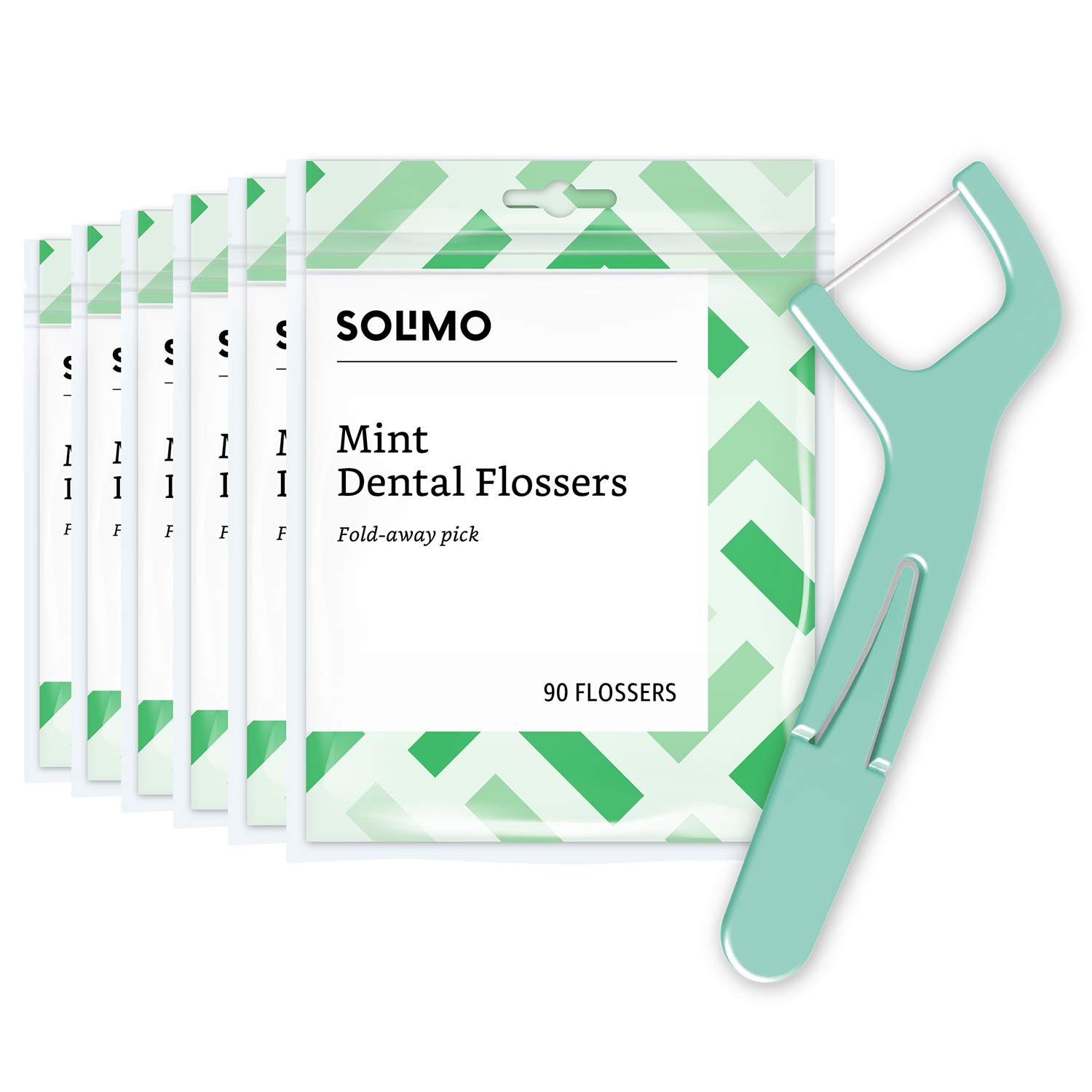 Amazon Brand - Solimo Mint Dental Flossers