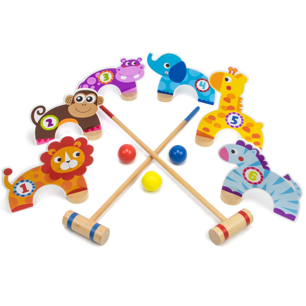 Deluxe Jungle Croquet Wooden Play Set - 11 Pc Set! by Imagination Generation