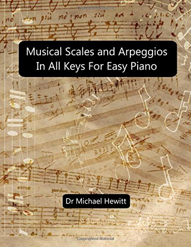 Musical Scales and Arpeggios in All Keys for Easy Piano: Theory and Practice