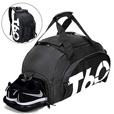 ac131bd252 Image Unavailable. Image not available for. Color  Gym Bag Small Travel  Duffle Bag Backpack with Shoe ...