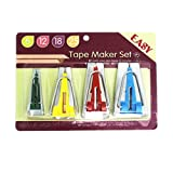 YEQIN Set of 4 Size Fabric Bias Tape Makers Set 6MM