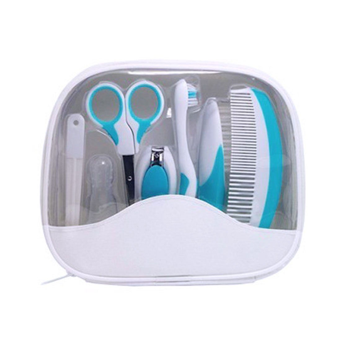 uxcellBaby Kid Toothbrush Nail Clipper Hair Comb Brush Care Grooming Set w/Storage Bag US-SA-AJD-314737