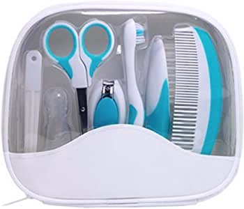 uxcell Toothbrush Nail Clipper Hair Comb Brush Care Grooming Set w/Storage Bag