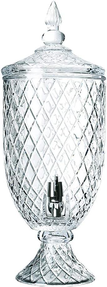 X-L-H アイスコーヒー、紅茶、レモネード、ピクニックパーティー用ウォーター1.8L / 4.5Lクリアガラス用クリアフロースピゴット付きメイソンジャードリンク飲料ディスペンサー (色 : 4.5L)