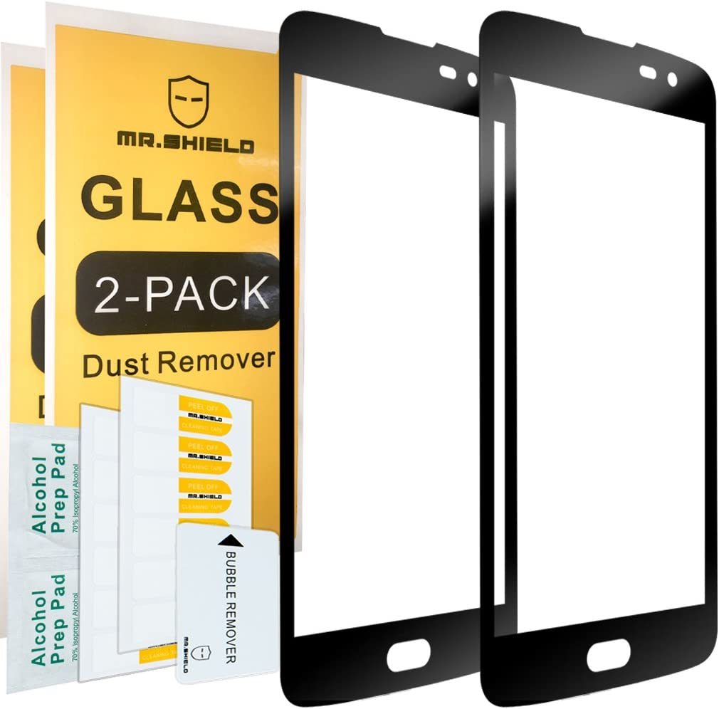 [2-Pack]-Mr.Shield for LG Escape 3 [Tempered Glass] [Full Cover] Screen Protector with Lifetime Replacement