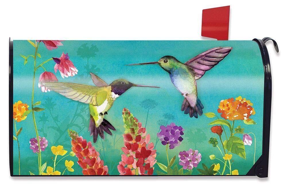 Briarwood Lane Hummingbird Greeting Spring Large/Oversized Mailbox Cover Floral