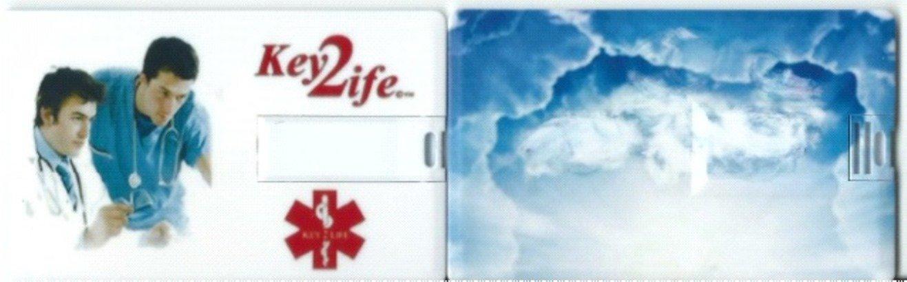 EMR MediChip Card by Key2Life Color White