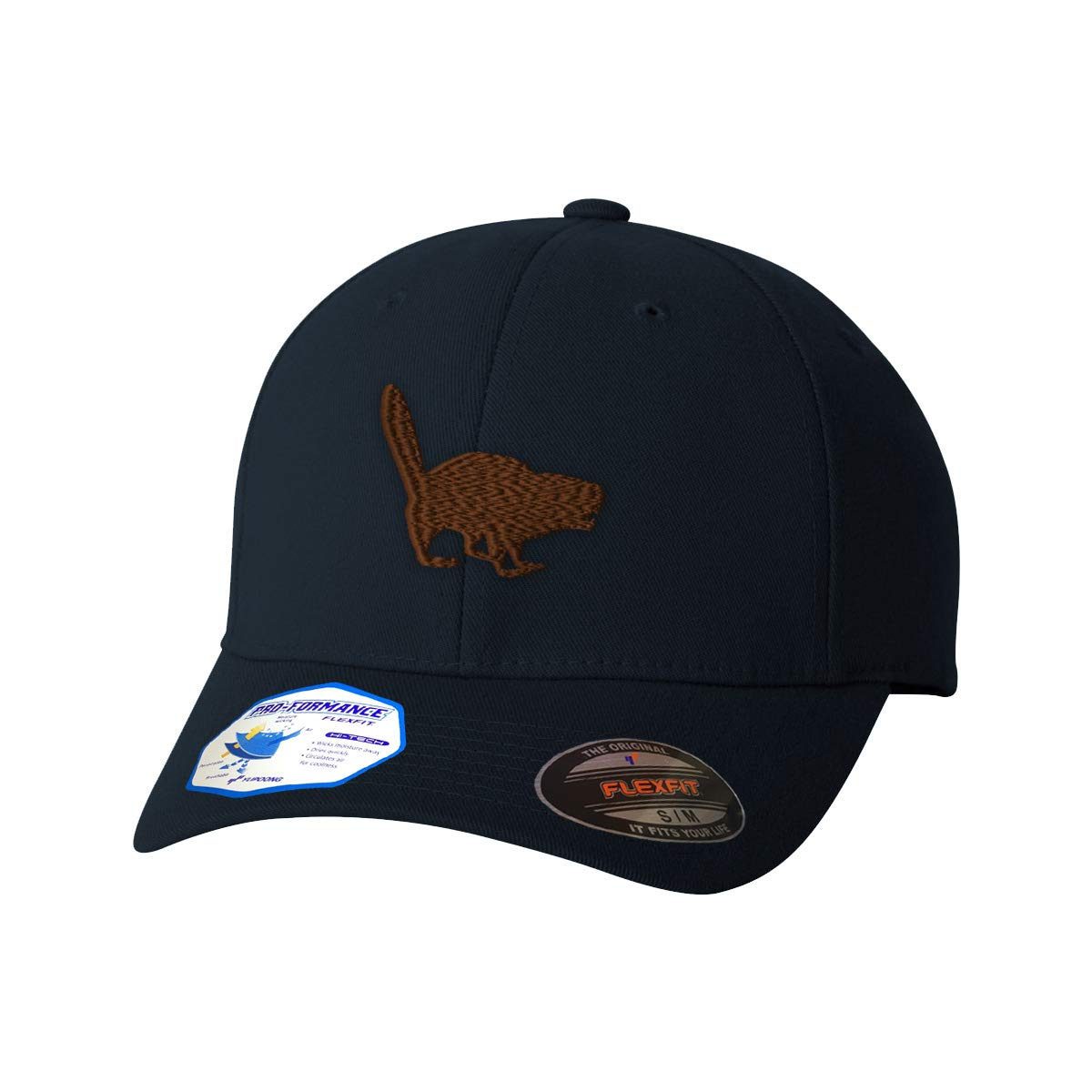 78085304b01 Amazon.com  Custom Flexfit Baseball Cap Beaver Funny D0G Embroidery Animal  Name Polyester  Clothing