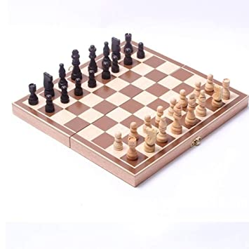 LGF Helmet Tablero de ajedrez de Madera de Estilo Europeo 32 ...