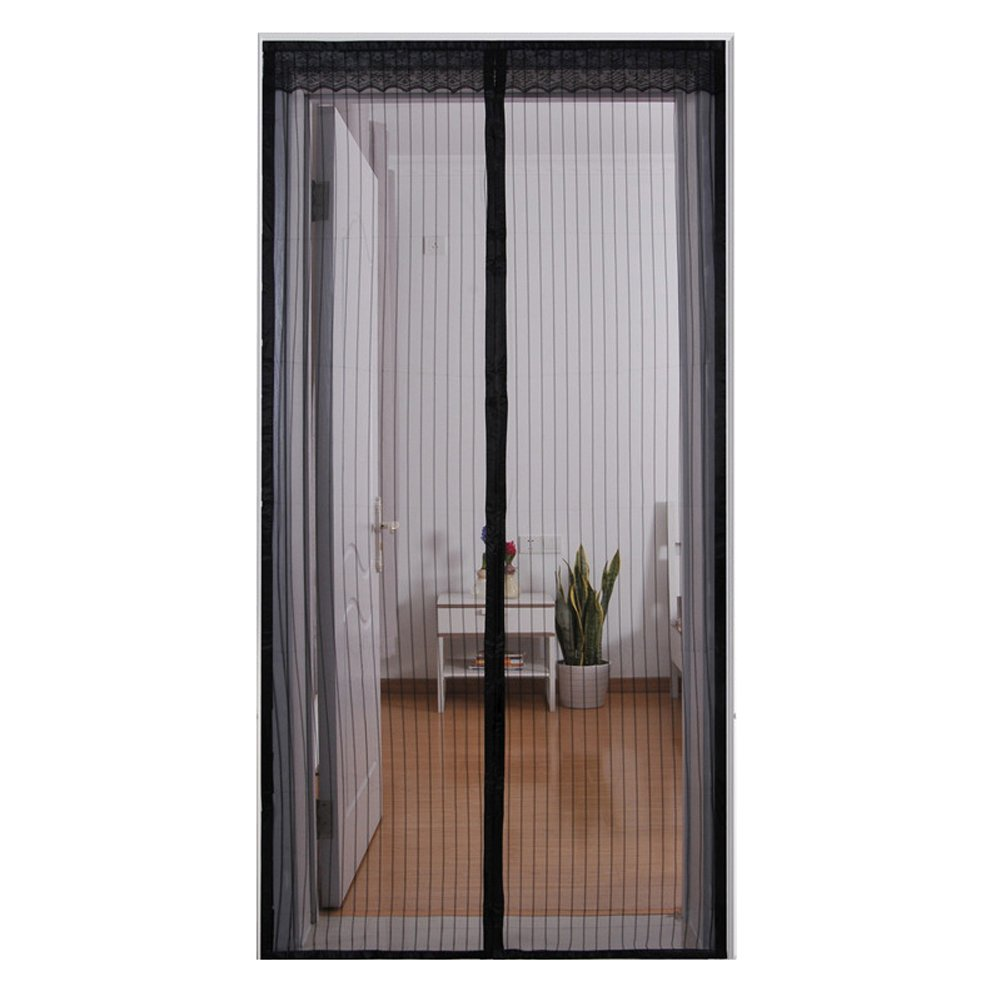 Wgwioo Magnetic Screen Door Keep Out Mosquitoes Or Insects Mesh Screen And Full Frame Velcro For Bedroom Living Room,Black,3282