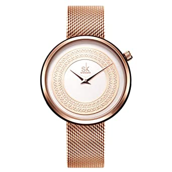 cbd5de37e SK Women Watch Fashion Analog Ladies Watches on Sale Mesh Female Watches  for Women (K0094
