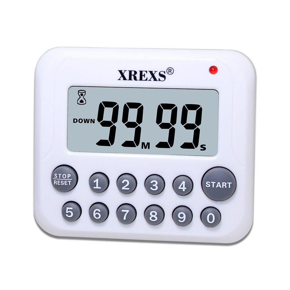 Xrexs Digital Kitchen Timer Magnetic Large Display Countdown Up Timer Clock L.. 12