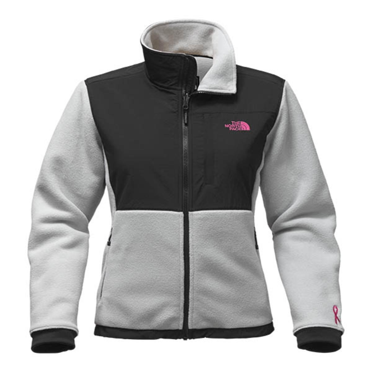 The North Face Women s Pink Ribbon Denali Jacket (High Rise Grey 8bf7ff953