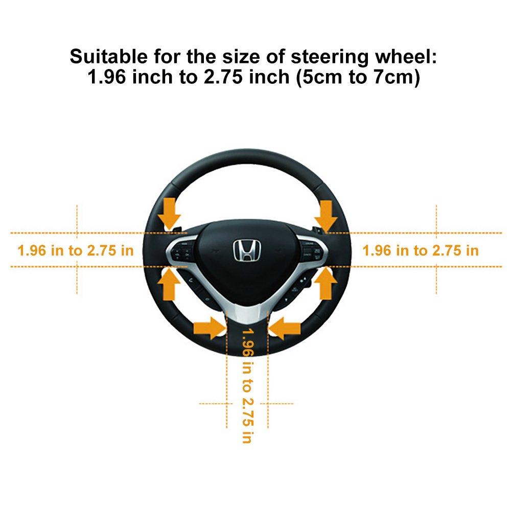 FREESOO Auto Steering Wheel Lock Auto Anti Theft Lock Safety Diebstahlsicherung Lenkradkralle Lenkradschloss Lenkradsperre Diebstahlsicherung Lenkrad Auto LKW SUV