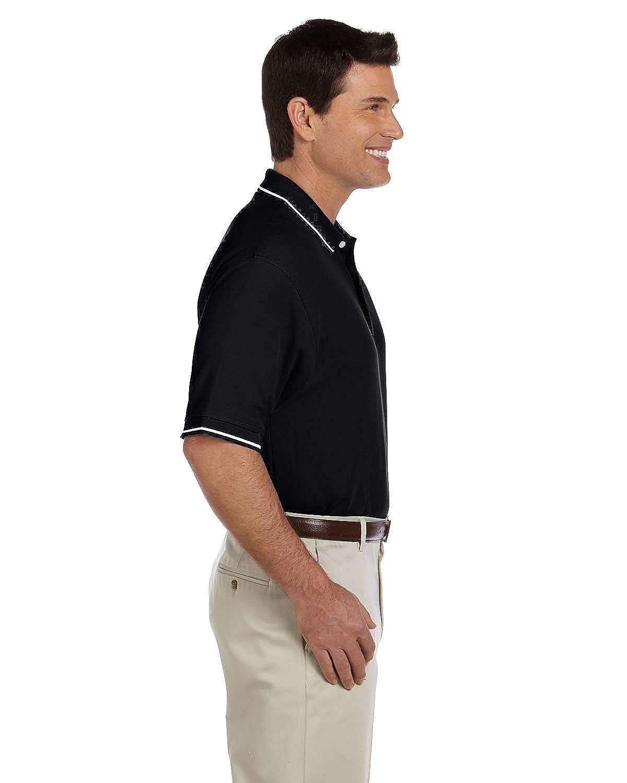 Devon /& Jones Mens Pima Piqu/é Short-Sleeve Tipped Polo