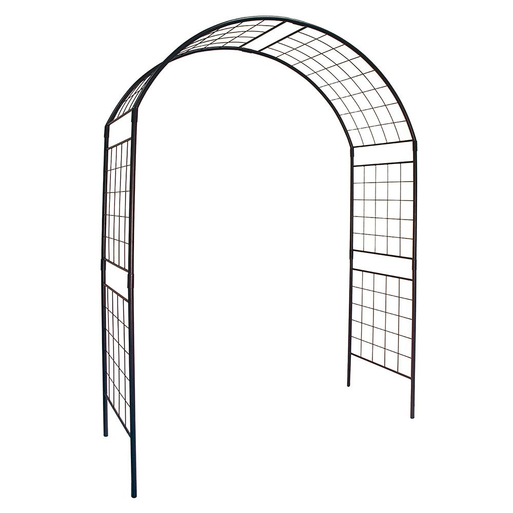 Achla Designs ARB-14 0000 Arbor/Garden Decor-Supports Climbing Plants-Wrought-Iron, Ii, Black