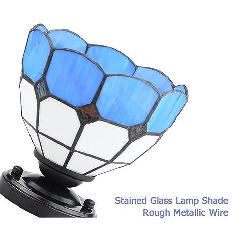 ZHMA Lamparas Tiffany 6 pulgadas Europea Pastoral manchado del estilo Glass Serie Luz de techo Dormitorio Lámpara Lámpara Cocina de Restaurante Sala de ...