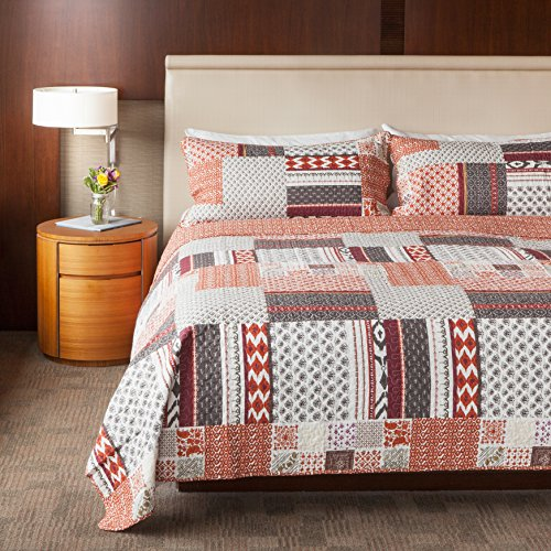 Sova Homespun Happiness Cotton Quilt Set (King) (Crate Barrel Duvet)
