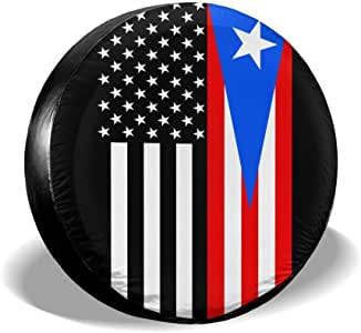 Amazon.com: PINE-TREE-US USA Puerto Rico Flag Spare Wheel ...