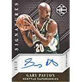 GARY PAYTON 2015-16 Panini Limited Basketball CERTIFIED SIGNATURES AUTOGRAPH Spotlight (Seattle Supersonics Legend) Rare Gold Parallel Signed NBA Collectible Trading Card (#08 of 10)