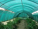 OriginA Patio Shade Fabric for Greenhouse,Pond Cover,Pergola Cover,Patio Side Fence 6x15ft Frostgreen
