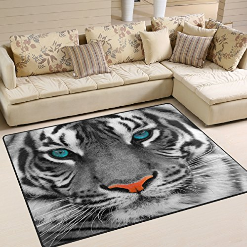 ALAZA Hipster Tiger Print Area Rug Rugs for Living Room Bedroom 5'3″x4′