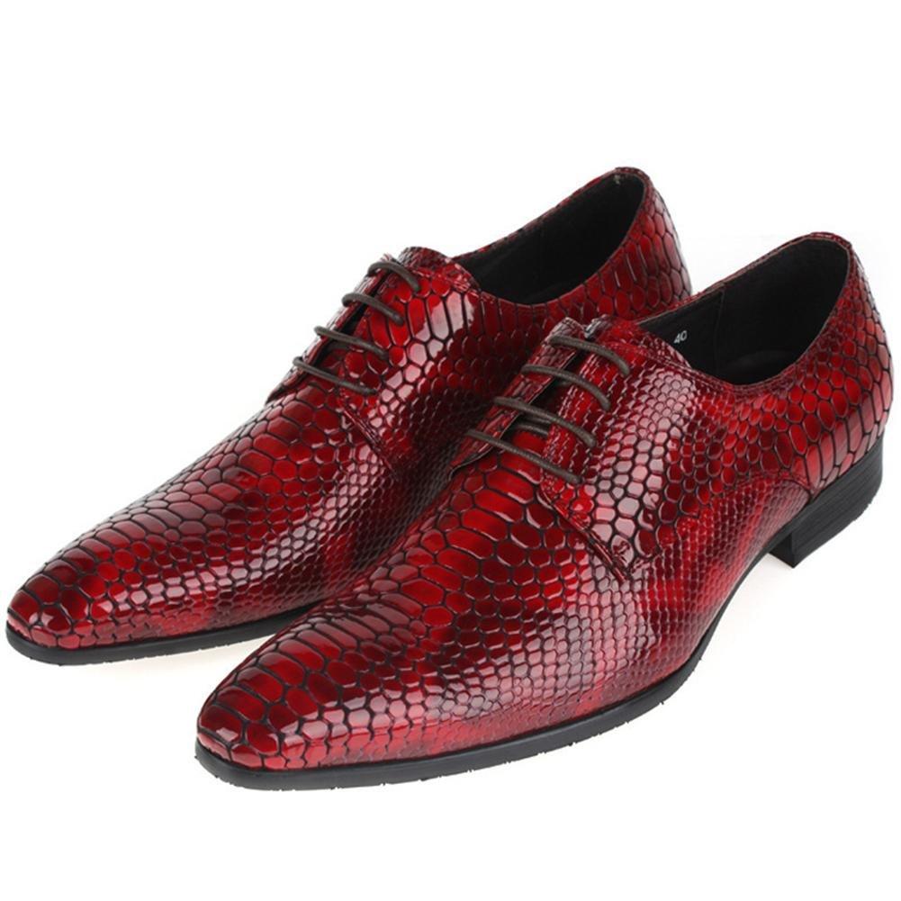 XIE Männer Geschäft Schnüren Leder Schuhe Schlangenhaut Muster Schnüren Geschäft Frühling Kleid Schwarz Spitz Niedrig Single Beiläufig Halbschuhe Eben Größe 38-44 0da804