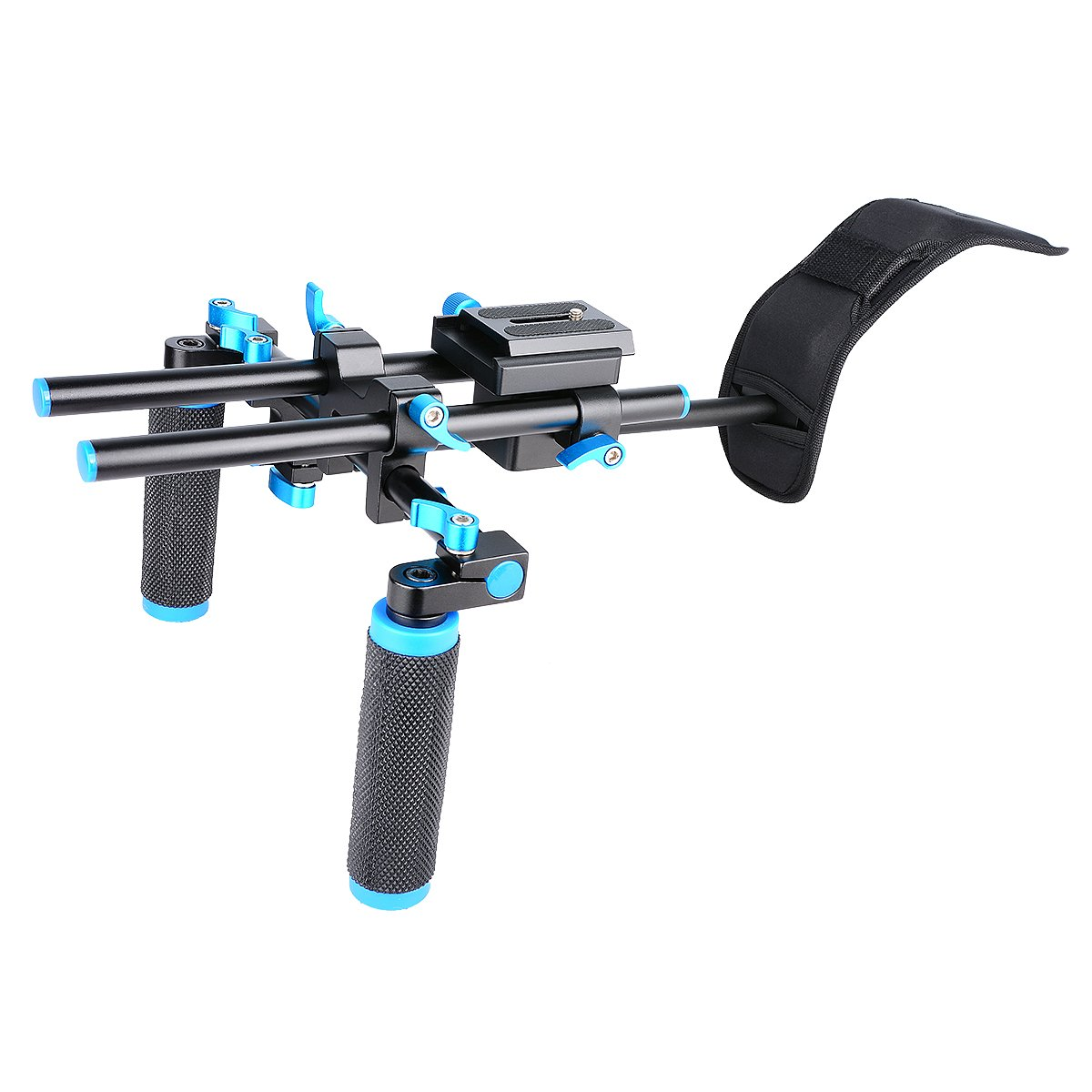 CZJUN DSLR Shoulder Mount Support Rig with Camera/Camcorder Mount Slider, Shoulder Lift Set, Double-hand Handgrip and C-shaped Holder Set For All Video Cameras and DV Camcorders