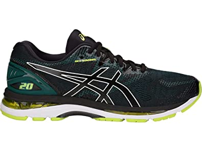 new styles b95ae 543d4 ASICS Men s Gel-Nimbus 20 Running Shoes, 7.5M, Black NEON Lime