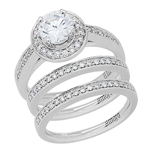 Amoro 18kt White Gold Diamond Ring (0.52 cttw, H Color, VS2 Clarity)