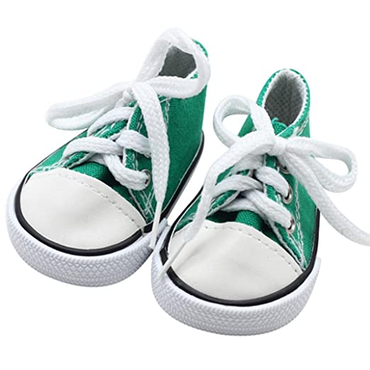 12948ce3d36f PrettyW Doll Clothes for 18 Inch Dolls - Canvas Lace Up Sneakers Shoes for  18 inch
