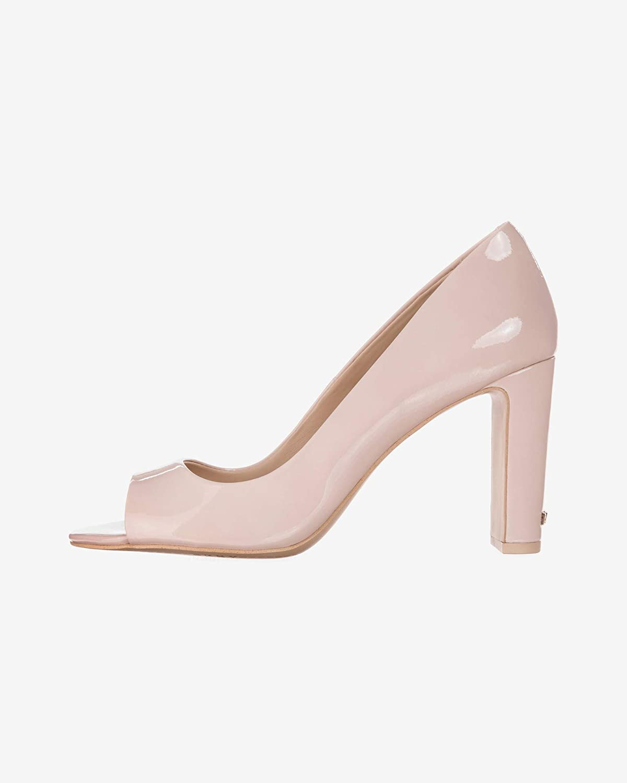 Beige DKNY Jade Peep Toe Heels, White