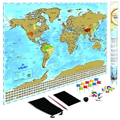 Hot sale deluxe world map scratch off large poster with us states hot sale deluxe world map scratch off large poster with us states and country flags gumiabroncs Image collections