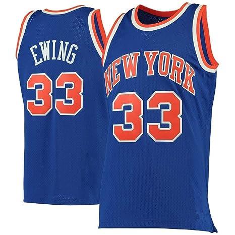 YISUDA NBA Knicks # 33 Patrick Ewing Jerseys de Baloncesto para ...