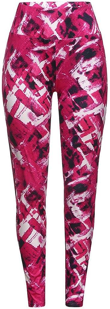 Saymi Women Reflex Activewear Print Yoga Pants Elastic Waist Running Leggings