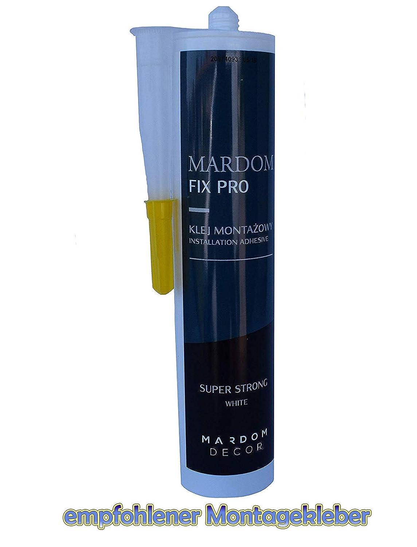 Mardom Decor Lichtleiste QL007-10cm Sockelleiste f/ür indirekte Beleuchtung MUSTER