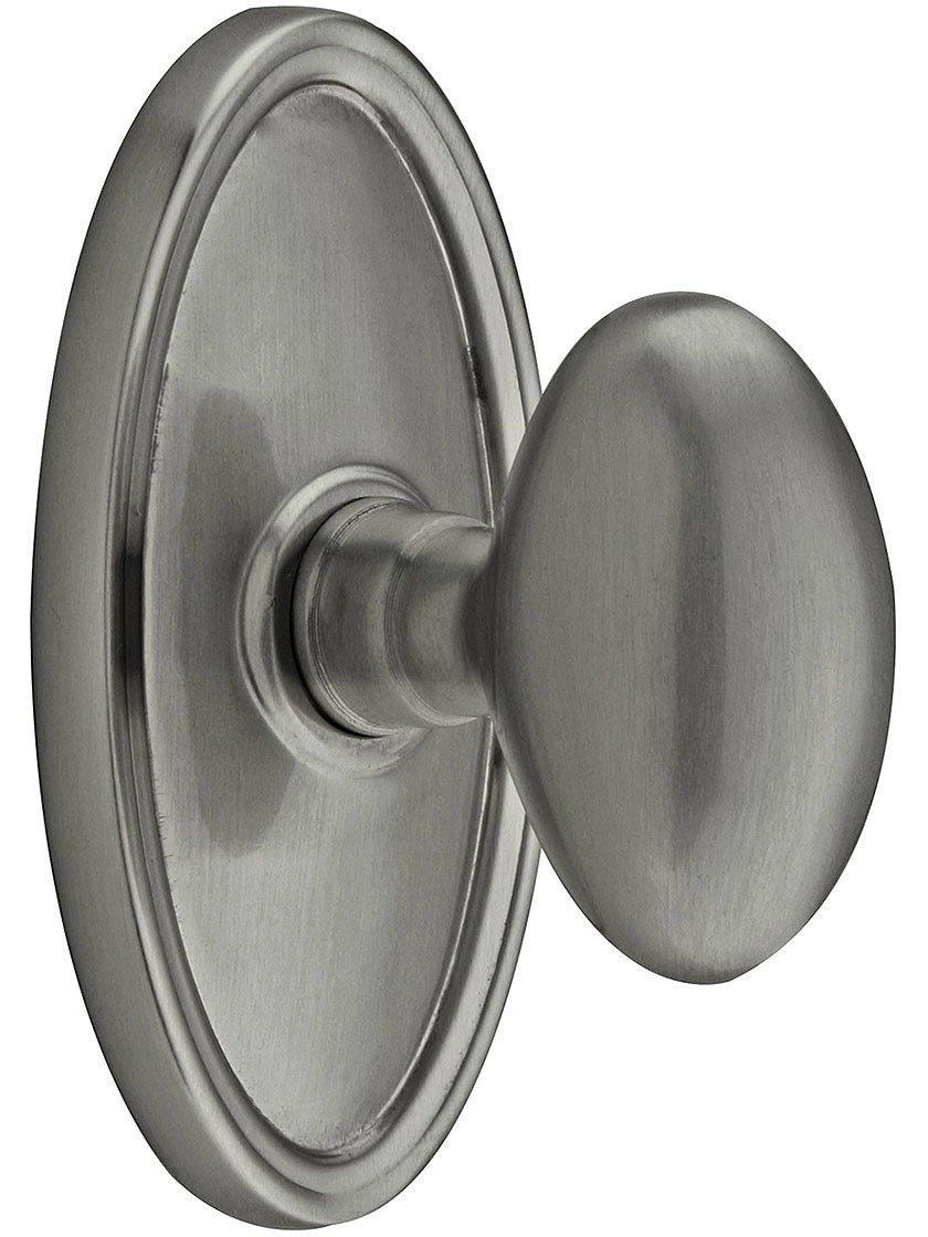 楕円形ロゼットSet with 8での楕円真鍮ノブ、仕上げ 4.5 inches Antique Pewter, Passage 2 3/8 Antique Pewter, Passage 2 3/8 B005TXL2A0