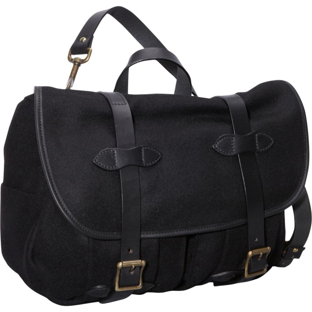 フィルソンウールフィールドバッグ – M  ブラック B009K6IK2A