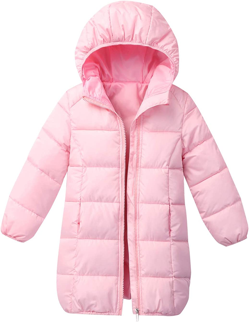 Cromoncent Boy and Girl Winter Hooded Puffer Packable Down Parka Coat Outwear