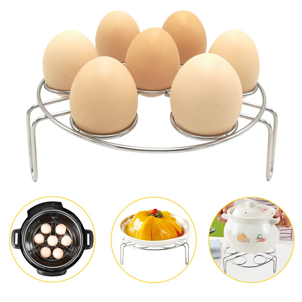 Egg Steamer Rack, Alamic Egg Rack Steamer Trivet Basket Stand for Instant Pot Accessories and Pressure Cooker Accessories, Stainless Steel Heavy Duty