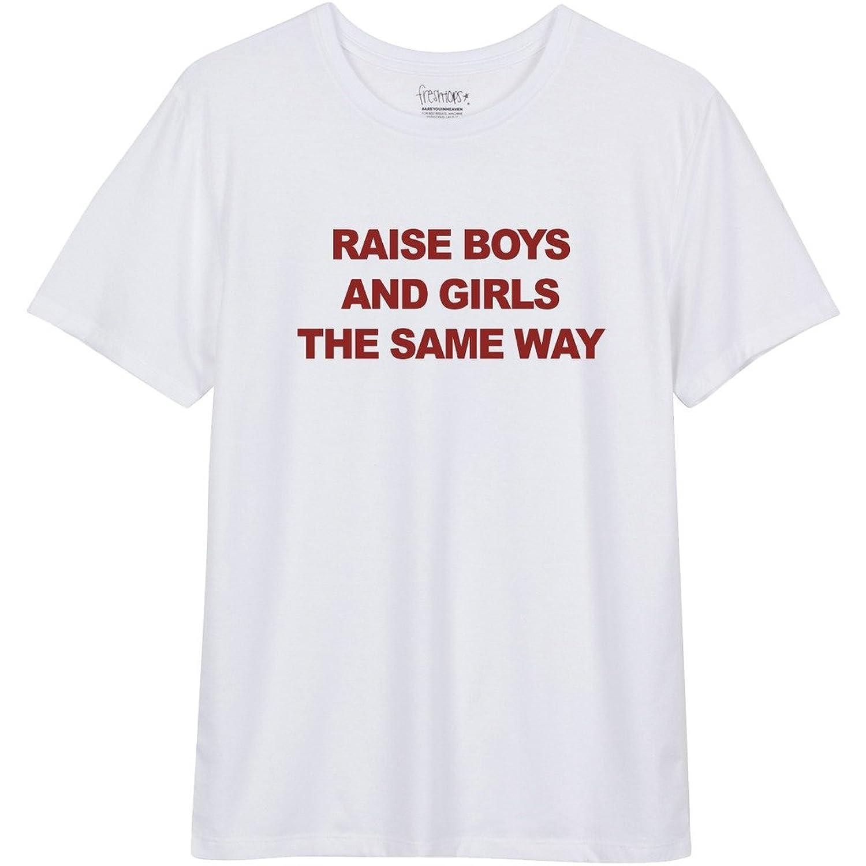 Freshtops Women's Raise Boys and Girls T shirt