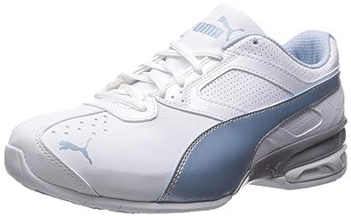 purchase cheap 1361e 91dbd PUMA Women s Tazon 6 Wide FM Sneaker White-Cerulean Silver, ...