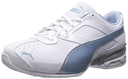 1c468f661ea Puma Women s Tazon 6 FM - Wide Fit White Cerulean Silver Running Shoe 6