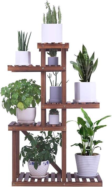 4//5 Tier Wooden Plant Stand Garden Flowerpots Shelf Vertical Display Holder